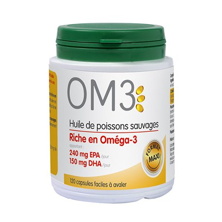 Om3 wild fish oil riche in omega3 epa dha 120 capsules in for Fish rich in omega 3