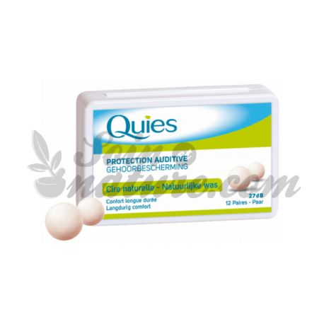 QUIES GEHÖRSCHUTZ NATURAL WAX 12 Paare