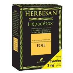 HERBESAN HEPADETOX cure détox foie 45 gélules