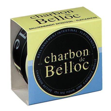 CHARBON DE BELLOC ventre plat 36 CAPSULES BOITE METAL