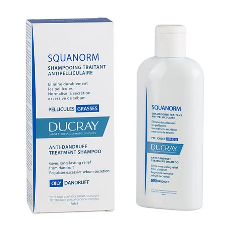 SQUANORM DUCRAY shampoing PELLICULES GRASSES 200ML