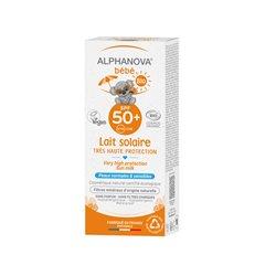 ALPHANOVA Bébé BIO SPF50+ Lait solaire visage corps 50ML