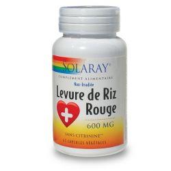 SOLARAY LEVURE DE RIZ ROUGE 600 MG 45 CAPSULES