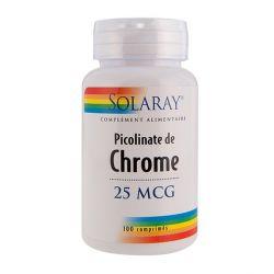 SOLARAY PICOLINATE DE CHROME 100 COMPRIMÉS