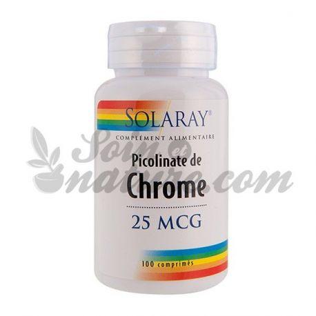 SOLARAY PICOLINATE OF CHROME 100 TABLETS in bio pharmacy