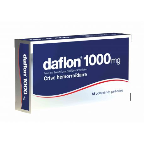 DAFLON 1000MG HÉMORROÏDE 18 COMPRIMÉS en pharmacie bio