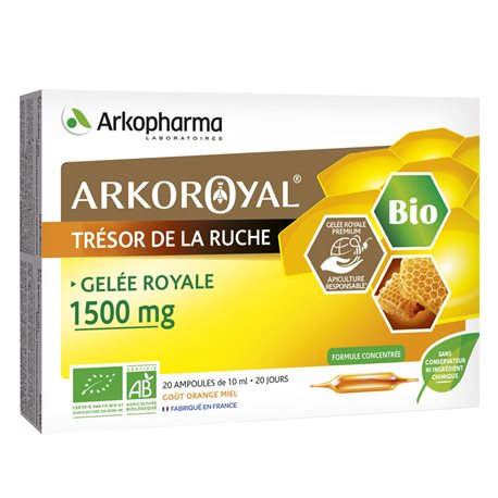 ARKOPHARMA ARKO ROYAL GELEE ROYALE BIO 1500 MG 20 AMPOULES 10ml