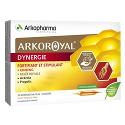 Arko Royal Dynergie Arkopharma Fortifiant Stimulant 20 ampoules