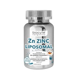 Biocyte longevity ZN ZINC LIPOSOME 60 gélules