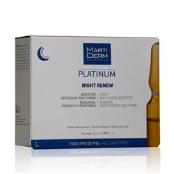 MARTIDERM PLATINUM NIGHT RENEW 10 AMPOULES effet soft peeling