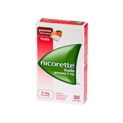 NICORETTE 2MG GOMMES FRUITS SANS SUCRE 30