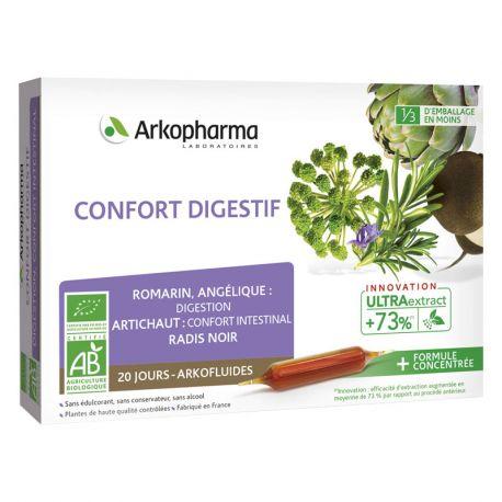 ARKOFLUIDE BIO Confort digestif 20 AMPOULES 10ml ARKOPHARMA