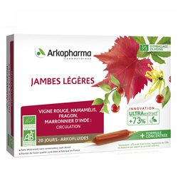 ARKOFLUIDE BIO JAMBES LEGERES 20 AMPOULES 10ml ARKOPHARMA