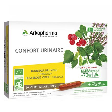ARKOFLUIDE BIO CONFORT URINAIRE 20 AMPOULES 10ml ARKOPHARMA