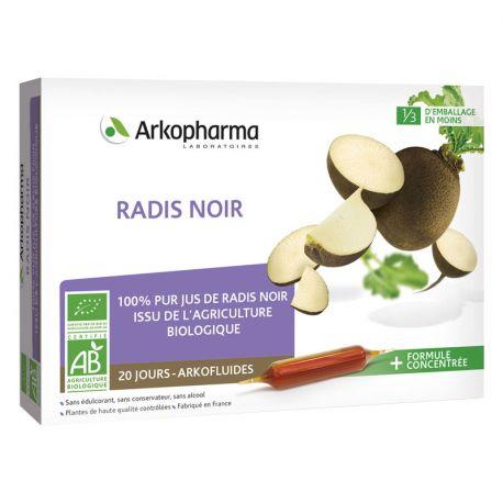 Arkopharma Arkofluide BIO 10ml NEGRO RÁBANO 20 BOMBILLAS