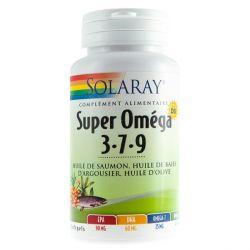 SOLARAY SUPER OMÉGA 3-7-9 PLUS VITAMINE D 60 SOFTGELS