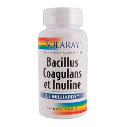 SOLARAY BACILLUS COAGULANS ET INULINE 60 CAPSULES