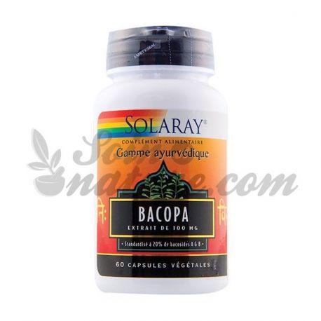 SOLARAY BACOPA 100 MG 20% BACOSIDES 60 CAPSULES
