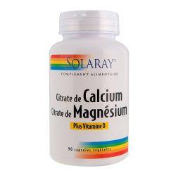 SOLARAY CALCIUM MAGNÉSIUM VITAMINE D 90 CAPSULES