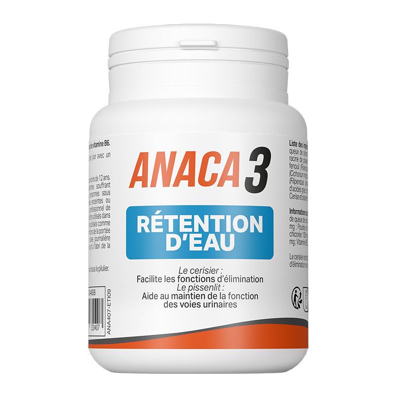 Achetez Anaca3 rétention d'eau 60 gélules en pharmacie