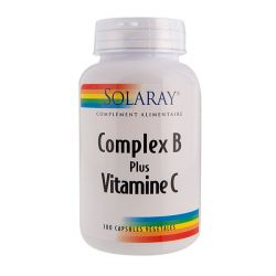 Solaray Complex B Plus Vitamin C 100 Capsules In Bio Pharmacy