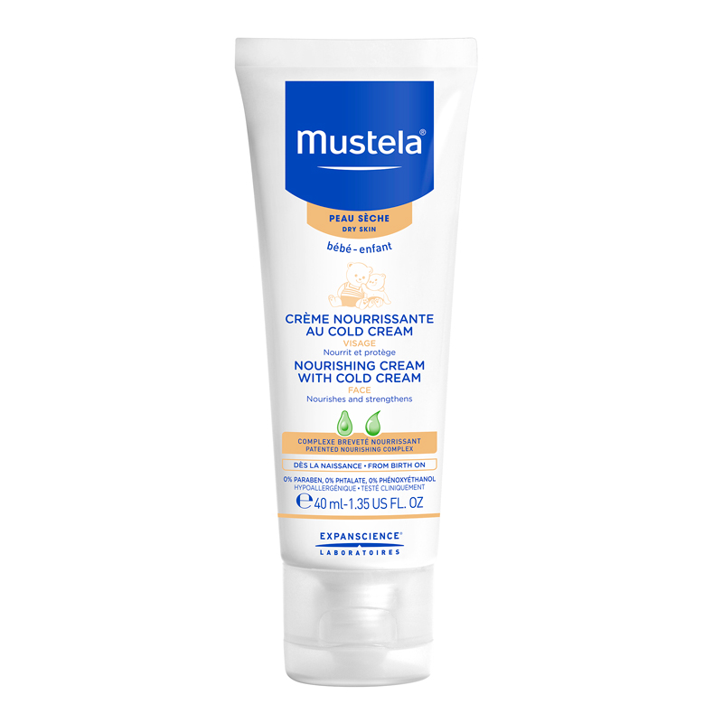 cr me visage mustela enfant cold cream tube 40ml. Black Bedroom Furniture Sets. Home Design Ideas