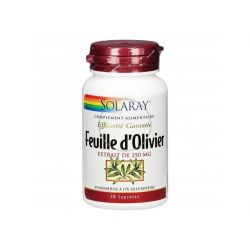 SOLARAY FEUILLE D'OLIVIER 250 MG STANDARDISÉ 30 CAPSULES