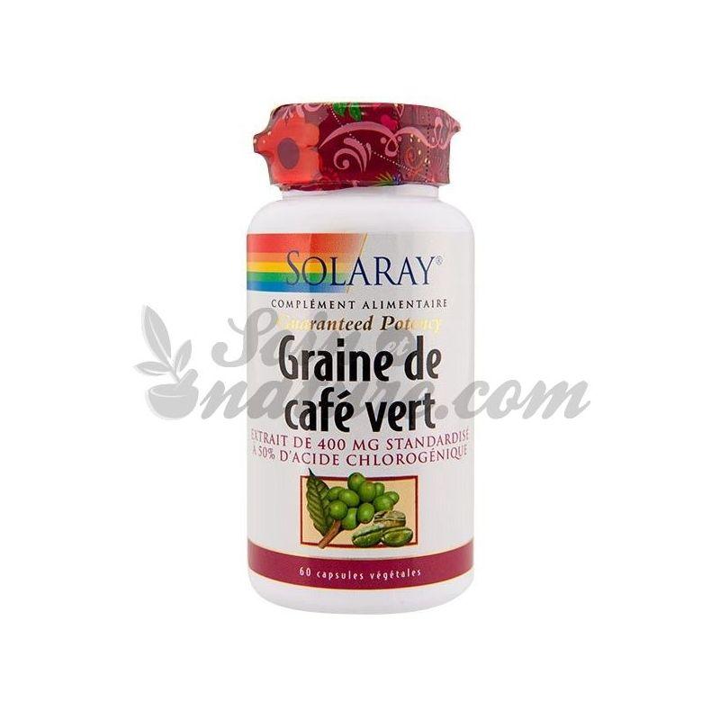 Solaray graine de caf vert 400 mg 60 g lules en pharmacie bio - Cafe vert extra minceur pharmacie ...