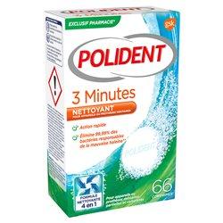 POLIDENT 3 MINUTES Nettoyant appareil dentaire 66 Comprimés