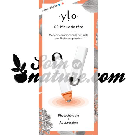 YLO 02. Maux de tête Stylo de phyto-acupression