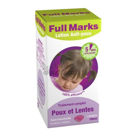 achetez full marks lotion anti poux efficace 100ml en pharmacie