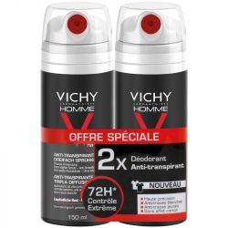 VICHY HOMME anti transpirant aérosol triple diffusion 72h 150ml