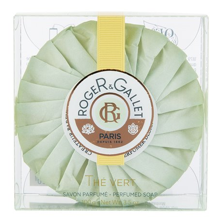 Roger & Gallet Thé Vert Savon Frais Boîte Cristal 100g