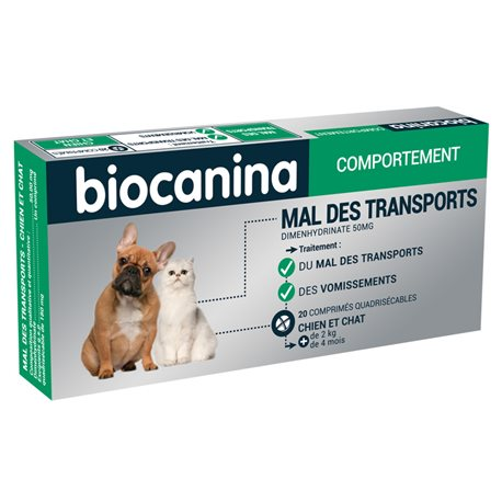 DOG AND CAT Biocanina Mal des Transports 20 TABLETS