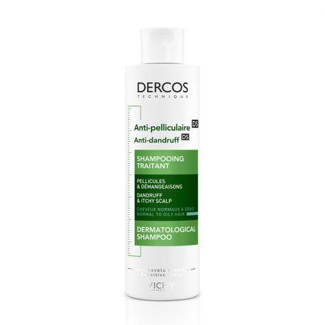 DERCOS Shampoing antipelliculaire cheveux gras 200ml