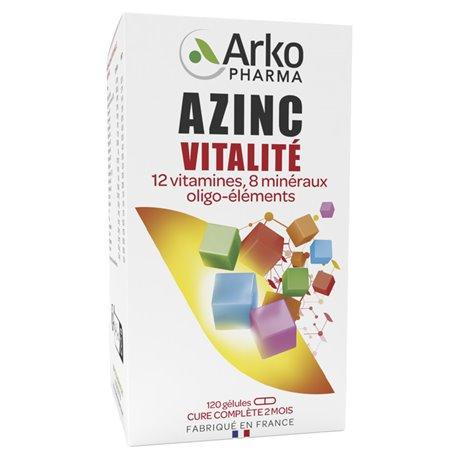 AZINC ARKOPHARMA FORM AND VITALITY 120 CAPSULES