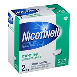 NICOTINELL 2mg Menthe 204 Comprimés à sucer