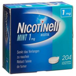 NICOTINELL 1mg Nicotine 204 Comprimés à sucer Menthe