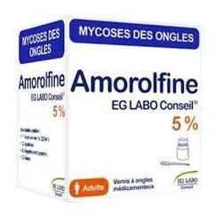 AMOROLFINE EG LABO 5% Vernis ongle Mycose