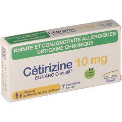 CETIRIZINE EG LABO 10mg Allergie Urticaire 7 comprimés