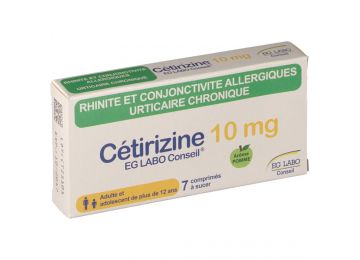 CETIRIZINE EG LABO 10mg Allergy Urticaria 7 tablets