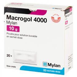 Macrogol 4000 10G MYLAN 20 sacos