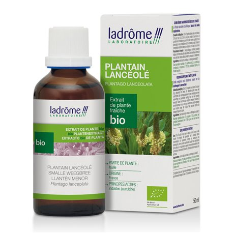 LaDrôme Plantain lancéolé BIO AB Extrait de plantes fraîches 50ml