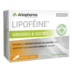 Arkopharma Lipoféine ДАТЧИК жиры Хитозан 60 капсул