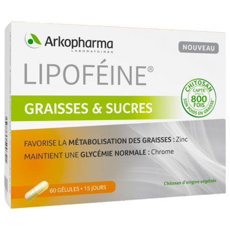 Arkopharma Lipoféine SENSOR FATS Chitosan 60 CAPSULES