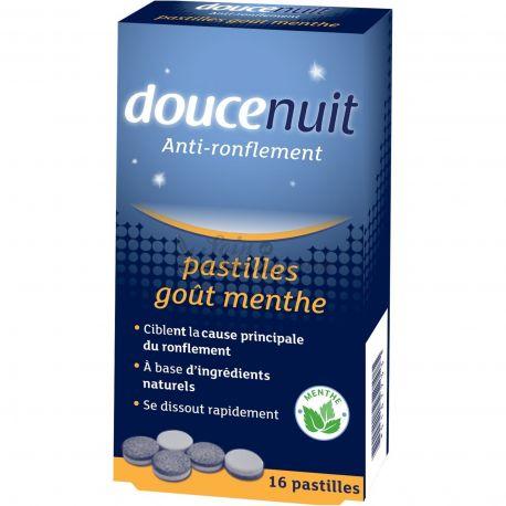 DouceNuit Pastilles Anti-ronflement Double Action Menthe