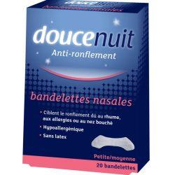 DouceNuit 20 Bandelettes nasales Réduire le Ronflement