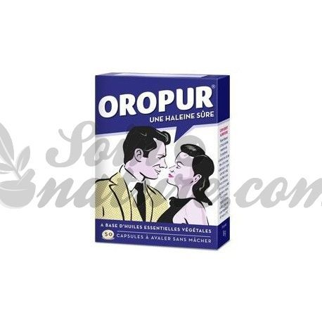 OROPUR Hygiène buccale Halitose 50 capsules