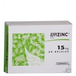 EFFIZINC 15mg gélules traitement de l'acné