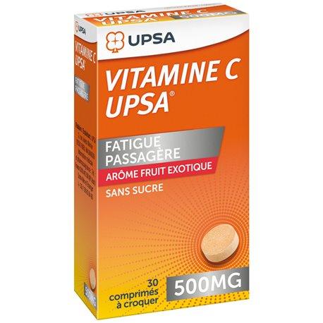 Vitamine C UPSA 500mg 30 Comprimés à croquer fruit exotique